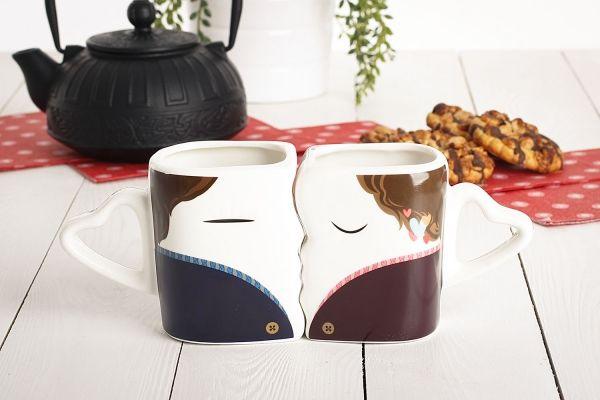 Romantyczny komplet kubków magicznych ONA I ON do kawy lub herbaty