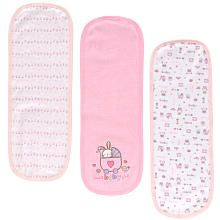 Babies R Us Terry Burp Cloth - 3-Pack - Girls