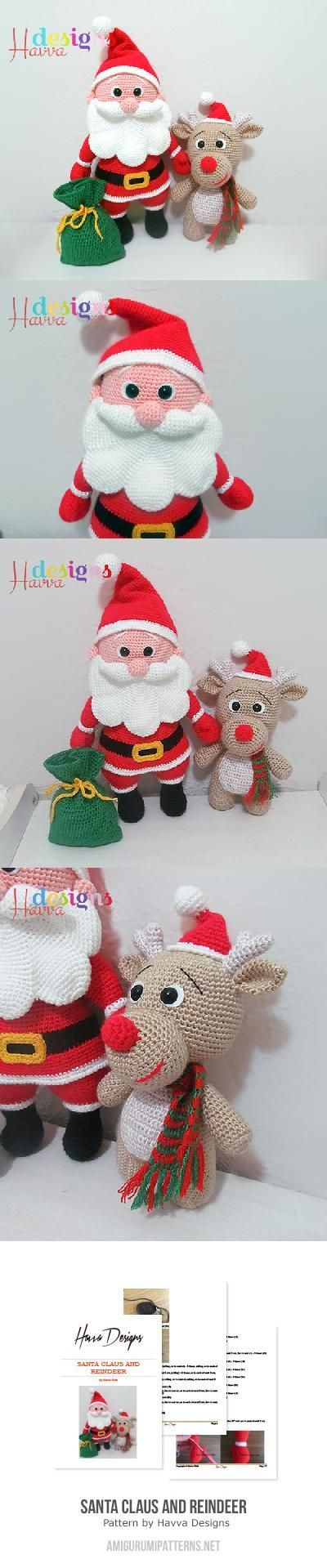 Santa+Claus+And+Reindeer+Amigurumi+Pattern