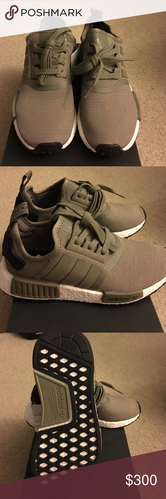 Adidas Nmd R1 Olive Cargo Brand new comes with original box, men's size 5, no trades Shoes Sneakers