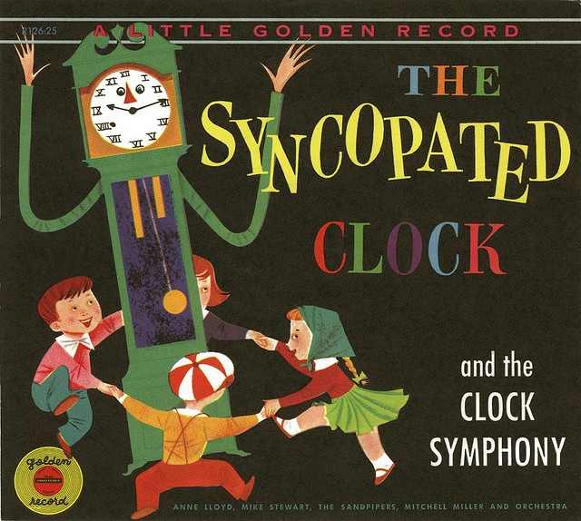 """The Syncopated Clock 6"""", 78 RPM children's record. Little Golden Records, Simon and Shuster 1954. via Glen Mullaly"""