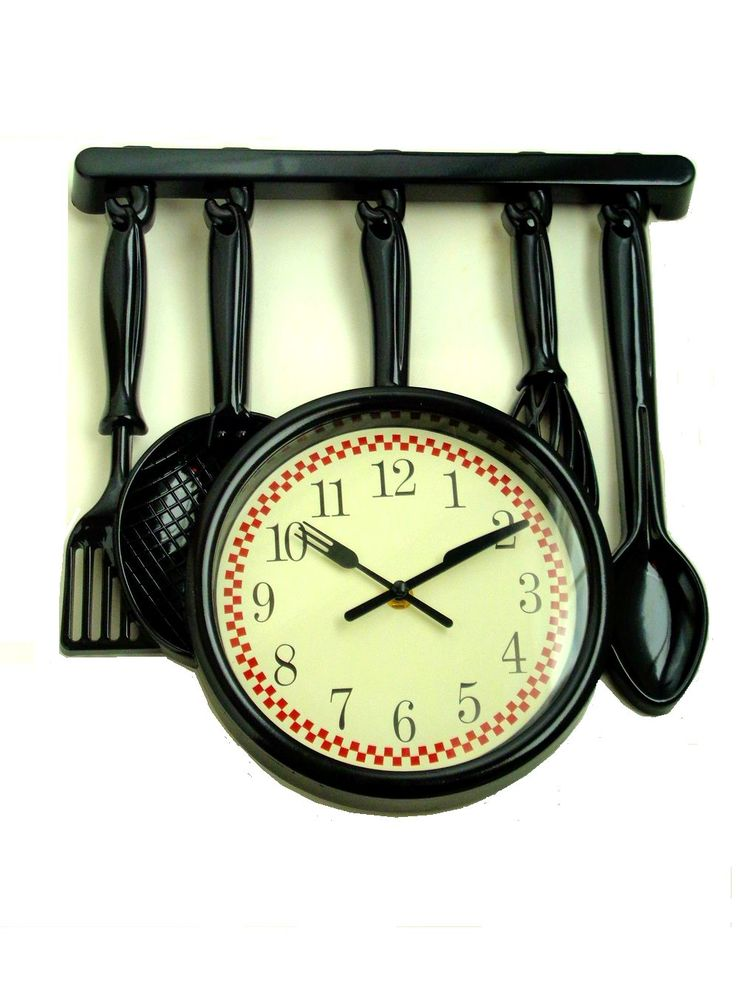 Utensils+Kitchen+Wall+Clock $26.95