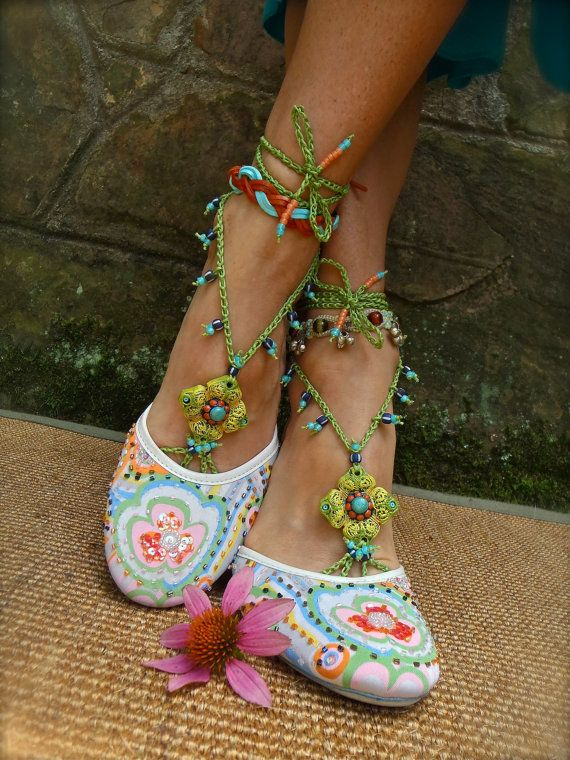 PISTACHIO BAREFOOT sandals green turquoise SANDALS by GPyoga