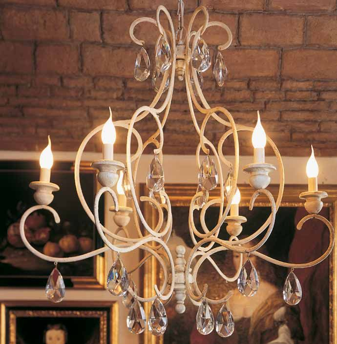"""Provenza"" wrought iron chandelier by effebiweb.com"