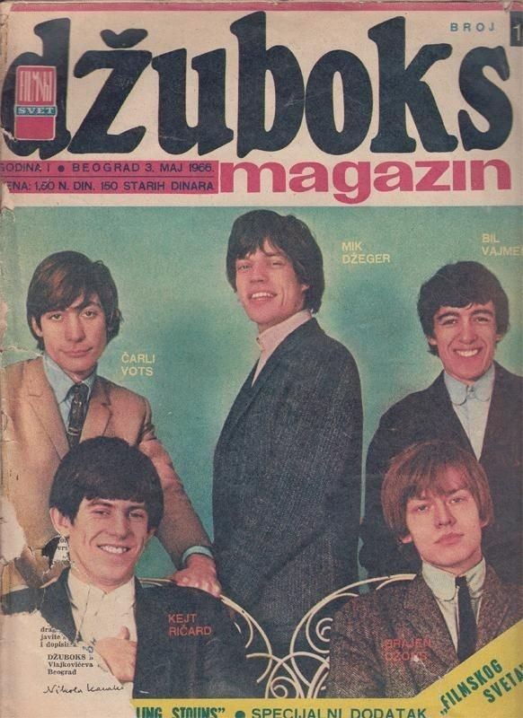 Rolling Stones on the cover of dzuboks, Yugoslavia (Serbia and Montenegro), May 1966.