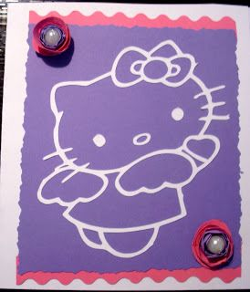 chiara creativity: card compleanno hello kitty