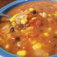 Quick Vegetarian Taco Soup - made this tonight and it was so good. Add tortilla chips and avacodo on top