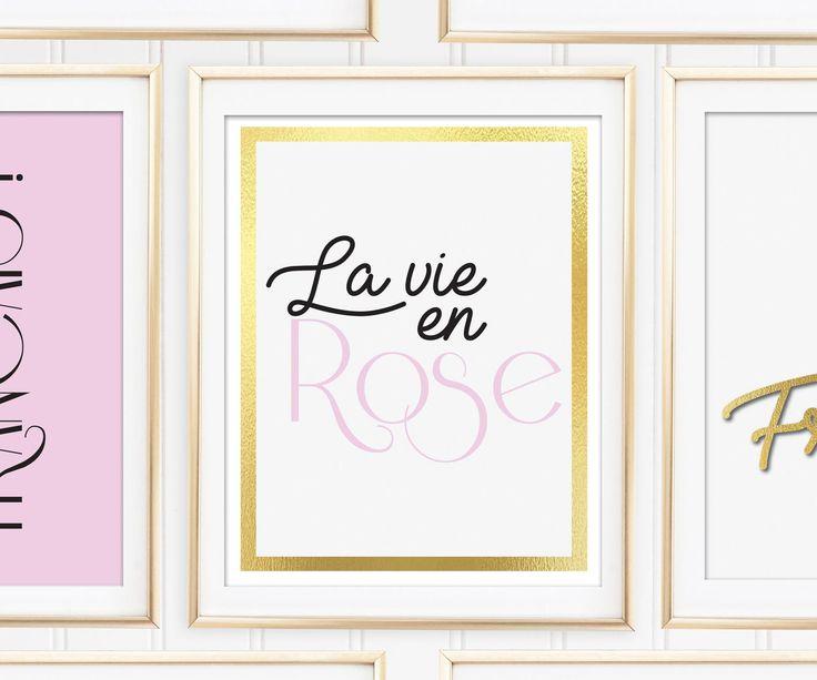 Un favorito personal de mi tienda de Etsy https://www.etsy.com/es/listing/544459780/la-vie-en-rose-printable-art-prints