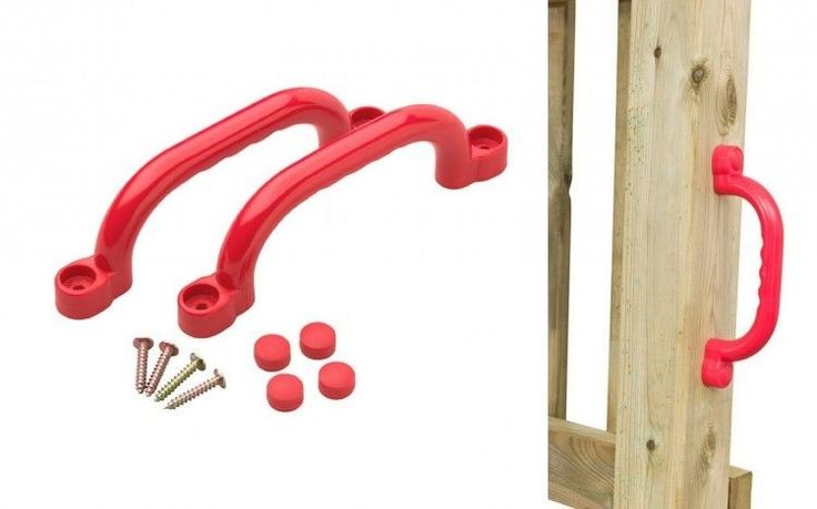 Plastic Hand Grips Set Red Handles Climbing Kids Playset Playhouse Tree House