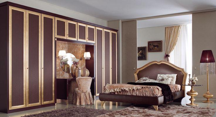 * Спальня Nabucco Oro в стиле арт-деко от фабрики Ferretti&Ferretti * Bedroom Nabucco Oro in art-deco style from factory Ferretti&Ferretti