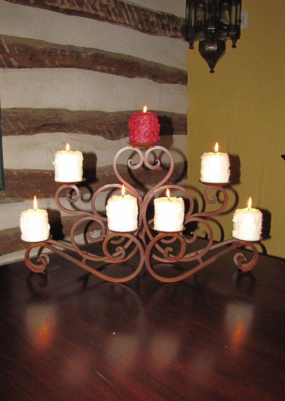 this wrought iron candle holder fireplace incert or table center rh pinterest com Fireplace Candle Inserts Fireplace Candle Inserts