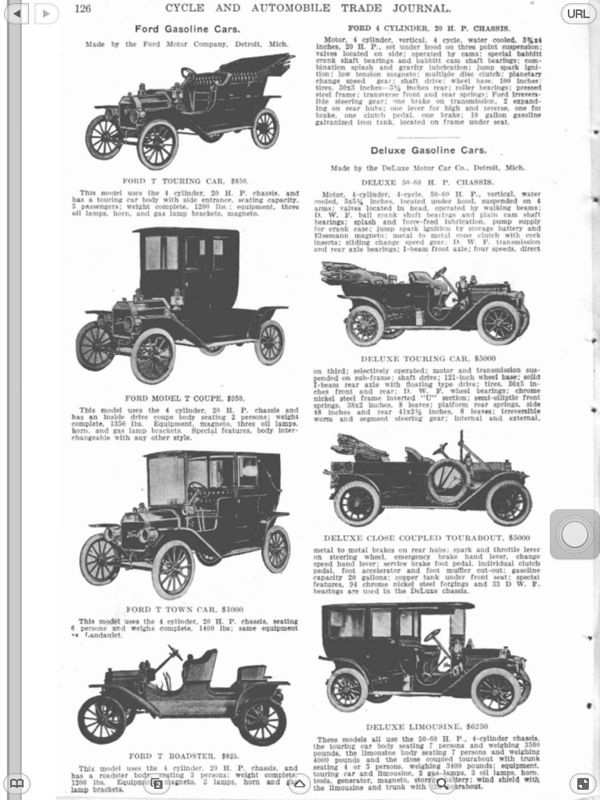 Henry S New 1909 Ford A Look At The First 2499 Model T S Part 1