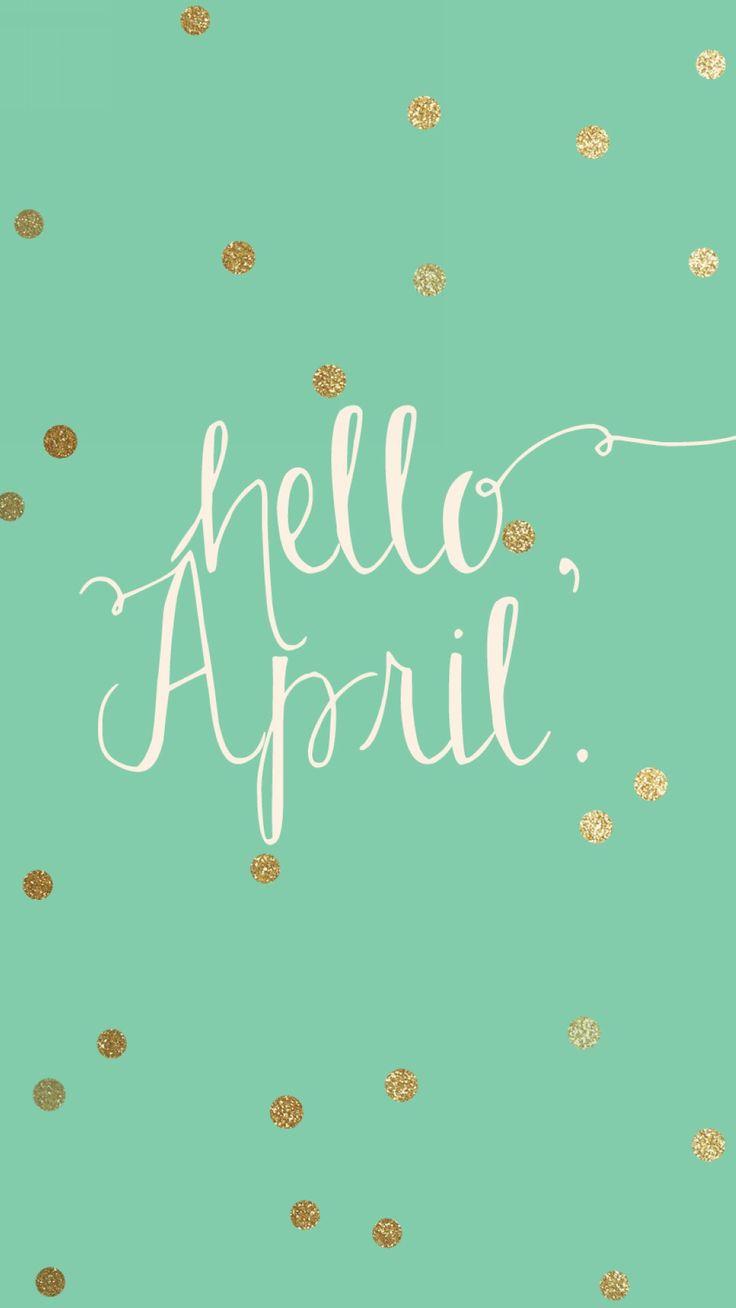 Hello April Wallpaper