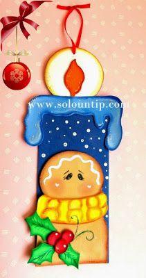figuras navideñas de foami