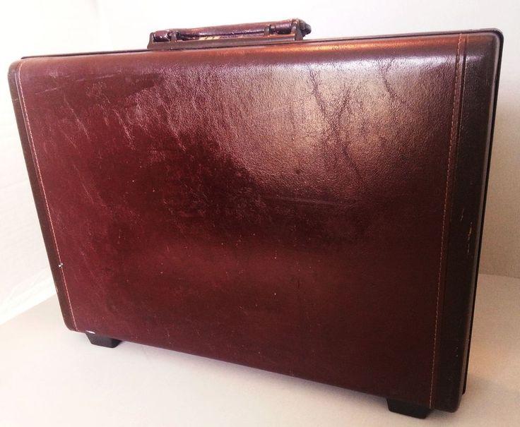 Vintage Samsonite Classic Hard Briefcase Lap Top Combination Lock Leather #Samsonite #HardBriefcasewcombolock