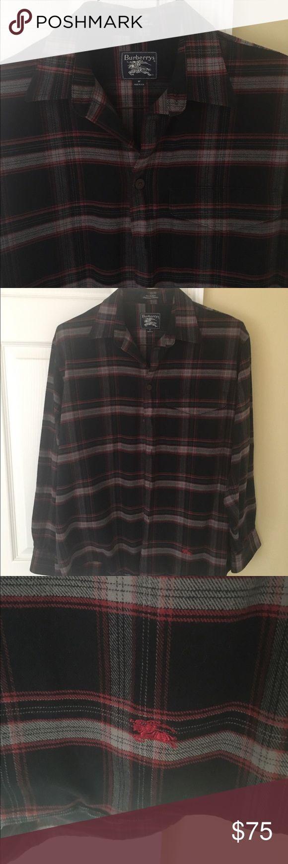 Men's Burberry plaid shirt Excellent condition awesome plaid shirt Burberry Shirts Casual Button Down Shirts