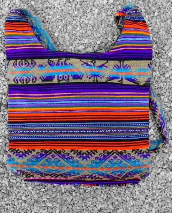 Colourful bag.