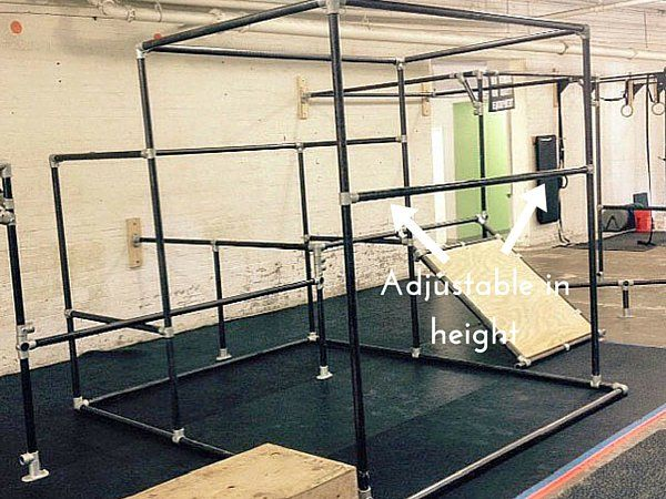 Parkour bar that is adjustable in height ninja