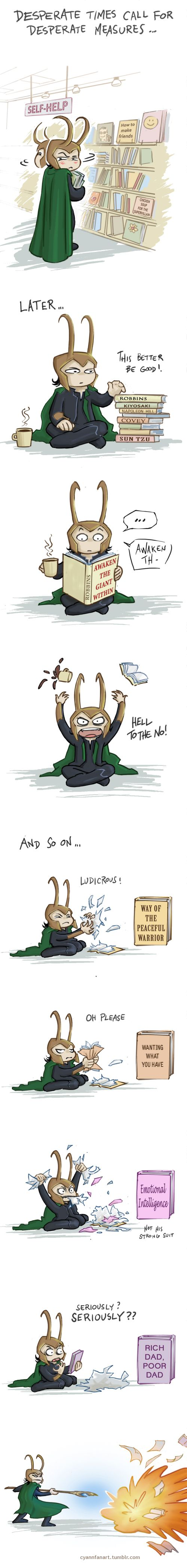 Loki tries something new by *CyannFanArt on deviantART
