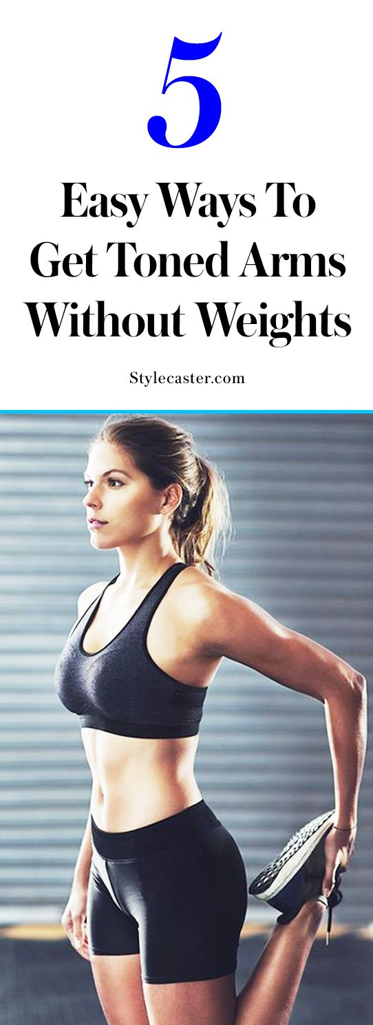toned arms without weights