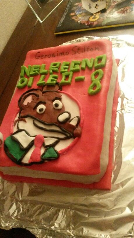 Geronimo Stilton - book cake design