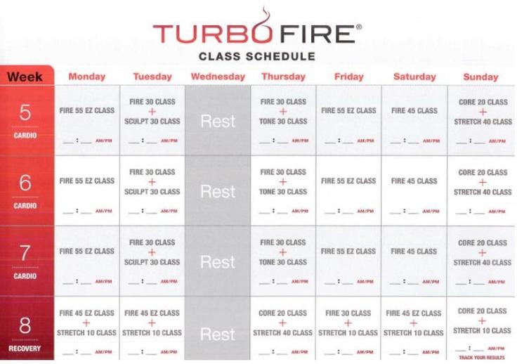 turbo fire weeks 5, 6, 7, 8