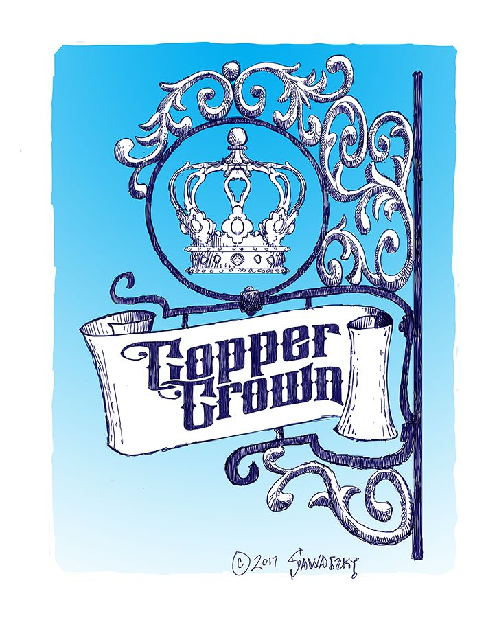 Copper Crown Sign— Hazelnut Inn