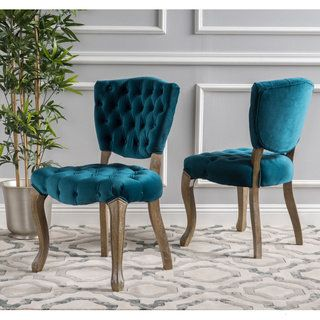 Shop for Bates Tufted Dining Chairs (Set of 2) by Christopher Knight Home. Get free shipping at Overstock.com - Your Online Furniture Outlet Store! Get 5% in rewards with Club O! - 15030325