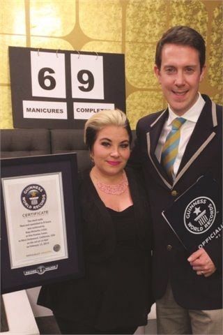 Nail Tech Naja Rickette Sets a Guinness Book Record