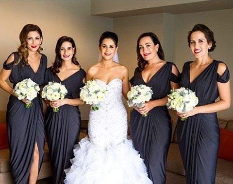Bridesmaids in @whiterunway's Exclusive Dionne Dress #whiterunway