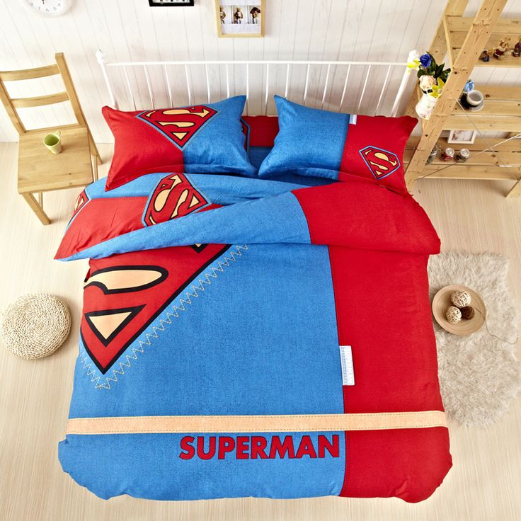 New Arrival Boy Bedding Superman Bedding Set Childrens Bedding Twin Full Queeen King Size Wholesale