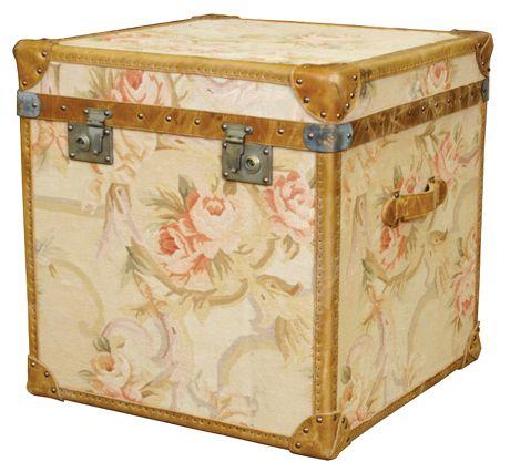 aubusson. Timothy Oulton trunk