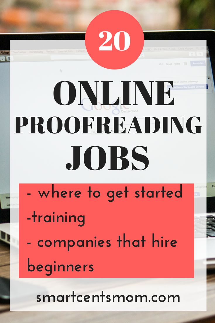 20 companies that hire for general proofreading and editing. Find proofreading jobs from home and ways to make money proofreading via @https://www.pinterest.com/smartcents/