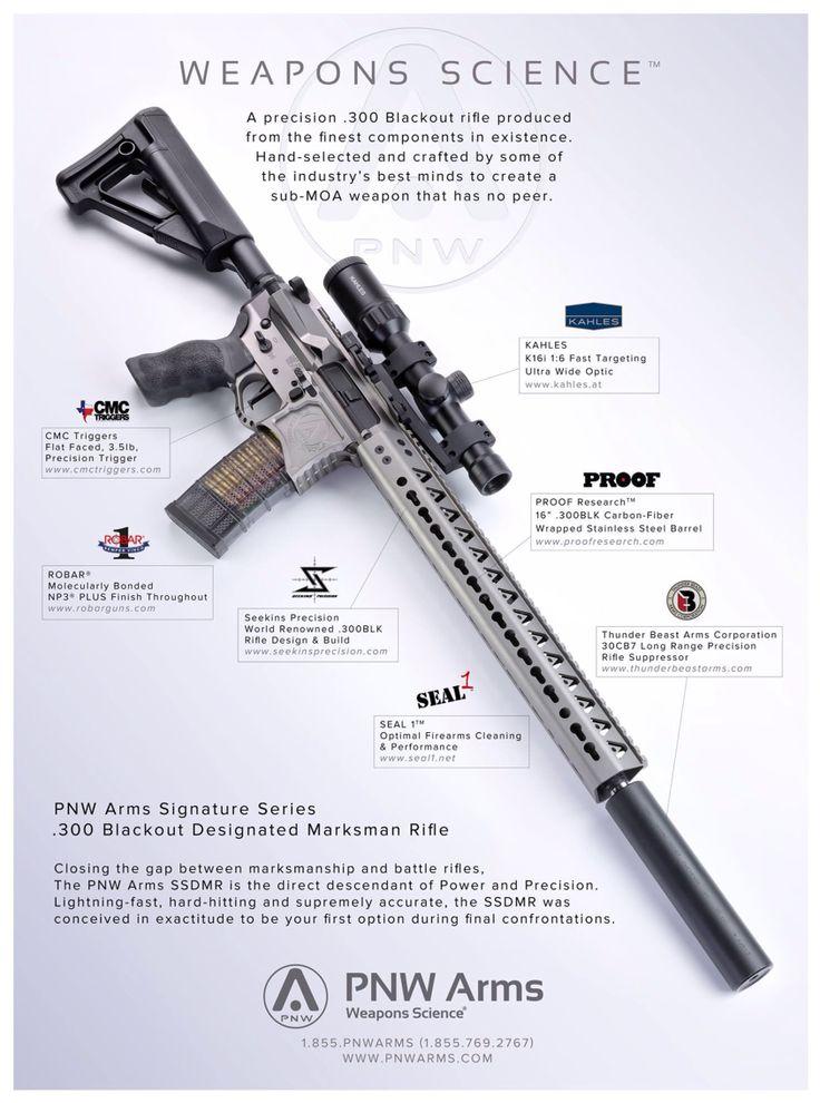 PNW Signature Series Designated Marksman Rifle in .300 BLK