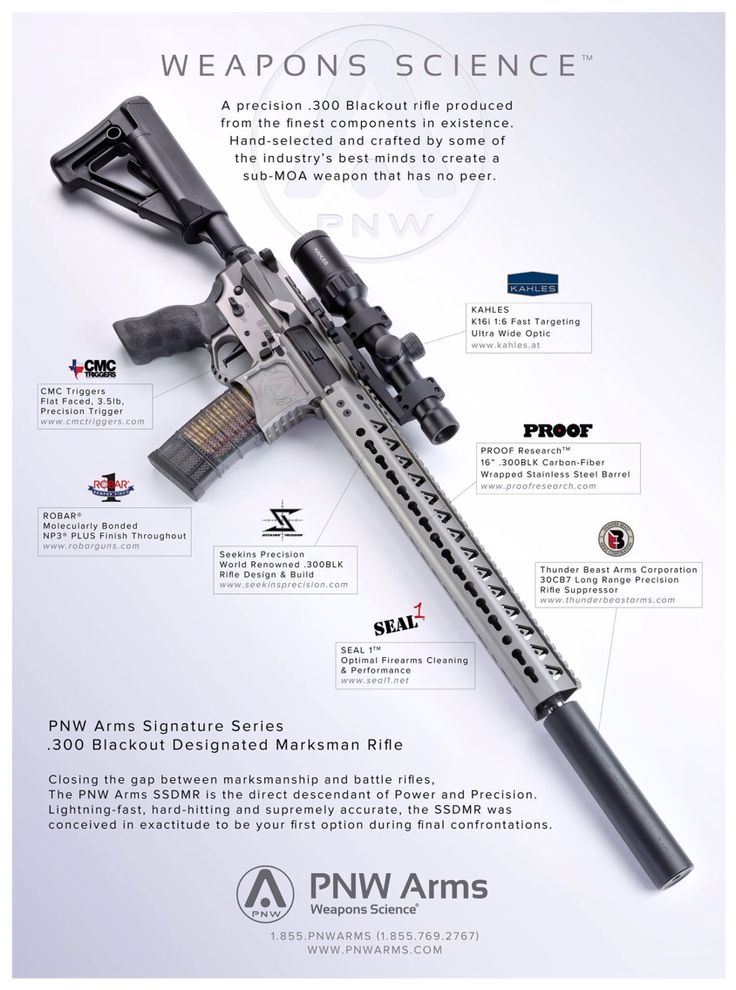 PNW Signature Series Designated Marksman Rifle in .300 BLK