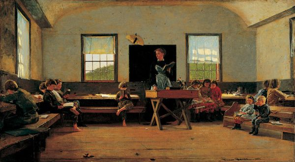 The Country School — Winslow Homer | biblioklept  ---  One ideal classroom layout... I think...