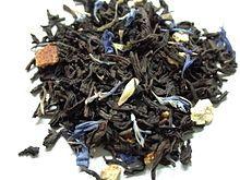 Lady grey tea, black tea scented with oil of bergamot, lemon peel and orange peel.