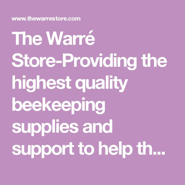 The Warré Store-Providing the highest quality beekeeping supplies and support to help the hobbyist beekeeper succeed - Organic Treatment