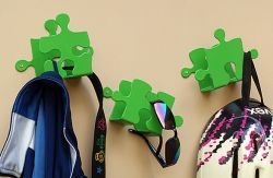 A set of three hangers may be a great  designer decoration for your interior.  Recommended especially for children's  and teenagers' room. You can get  a unique effect by playing with different  colour sets and creating your own  wall decoration.