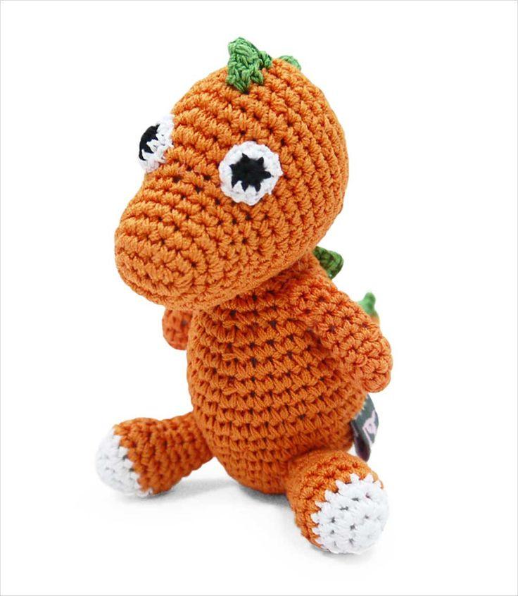 Handmade crochet interlaced cotton thread dog toy. The