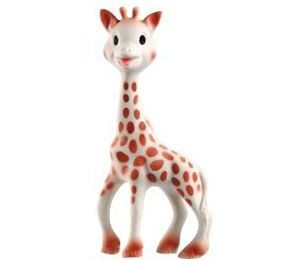 every baby needs a Sophie.                  Vulli Sophie the Giraffe at Black Wagon