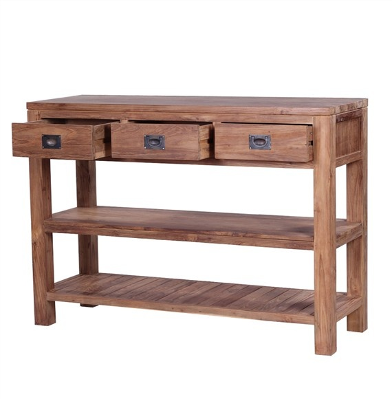 The 'Tanjung' Console Table – beautiful and unique, solid wood console table made from 100% eco-friendly solid reclaimed teak.