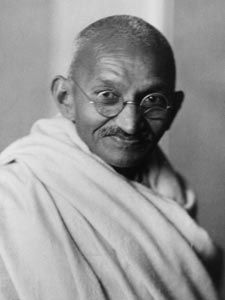 "Gandhi is another leader I admire greatly. He teaches us to lead authentically with his famous quote ""Be the change you wish to see in the world"""