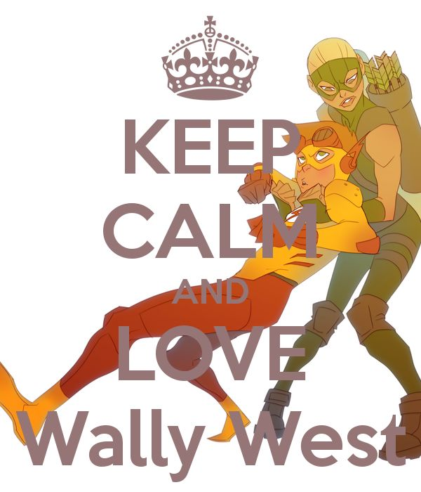 KEEP CALM AND LOVE Wally West Poster | Artemis | Keep Calm-o-Matic