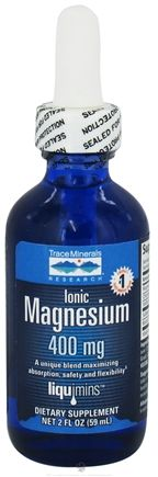Buy Trace Minerals Research - Liquid Ionic Magnesium 400 mg. - 2 oz. at LuckyVitamin.com