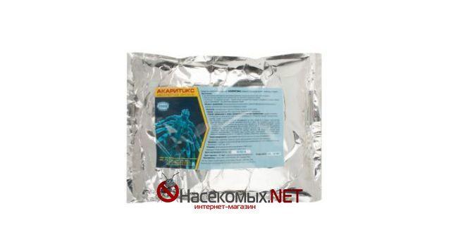 Инсектицидное средство Акаритокс 1 кг.  ДВ - альфациперметрин 5%.  Применяется против иксодовых клещей, мух,  комаров, муравьев, тараканов, постельных  клопов и их личинок.  Купить средство Акаритокс в нашем интернет-магазине.