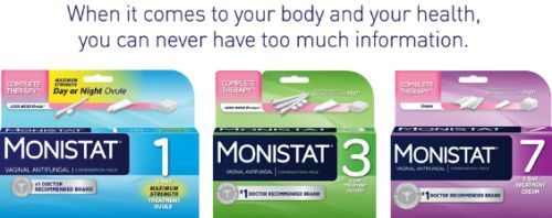 It's Time for TMI Free Sample of Monistat Anti-Fungal Cream Medicine for Yeast Infection - US