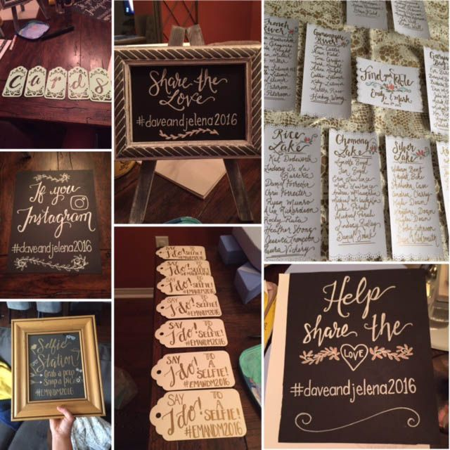 Hand painted Wedding Signs - from seating charts to Welcome Signs