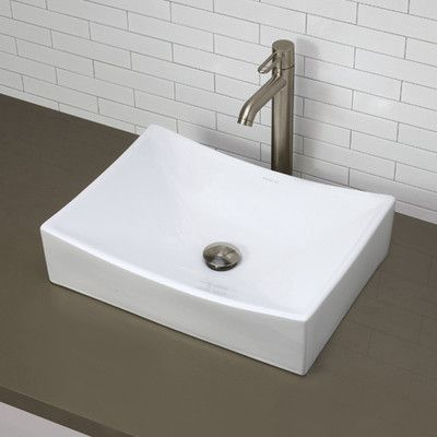 You'll love the Classically Redefined Rectangular Vessel Bathroom Sink at Wayfair - Great Deals on all Home Improvement  products with Free Shipping on most stuff, even the big stuff.