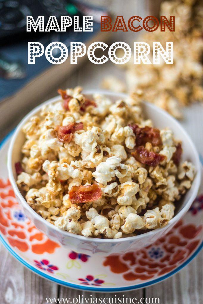 Maple Bacon Popcorn | www.oliviascuisine.com
